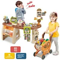 Shopping Grocery Play Store For Kids With Shopping Cart And Scanner