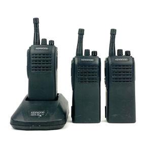 Lot of 3 Kenwood TK-360 Radios with Kenwood KSC-16 Rapid Charger