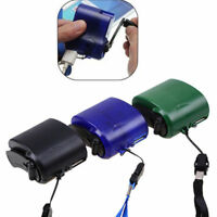 Cell Phone Mobile Player Emergency USB Charger Outdoor Camping Hand Crank Dynamo