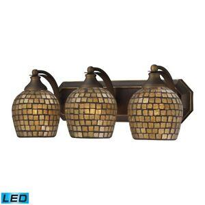 ELK Lighting Mix-N-Match Vanity 3-Light Wall, Bronze/Gold, LED - 570-3B-GLD-LED