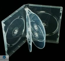 100 x 6 Way Clear DVD 22mm Spine Holds 6 Discs Empty Brand New Replacement Case