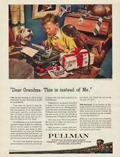 1943 Pullman Train Car Boy Typing To Grandma Typewriter Dog Vintage Print Ad
