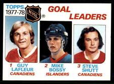 1978-79 Topps #63 Goal Leaders Lafleur/ Bossy/ Shutt NM-MT (ref 28119)