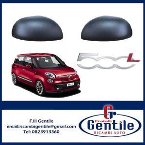 KIT COPPIA CALOTTE SPECCHIO RETROVISORE NERE PER FIAT 500L 2012>