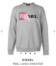 DIESEL Mens Peel Logo Sweater. Size Medium. BRAND NEW WITH TAGS