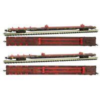 N Scale Micro-Trains MTL 99305510 QUAX Redstreak 89' Flat Car 2-Pack Weathered
