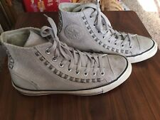 CONVERSE M 7 / W 9 Chuck Taylor All Star High Top Leather Suede Studded Riveted