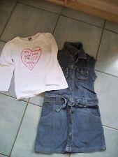 robe en jean fille 6 ans et tee shirt tape à l'oeil