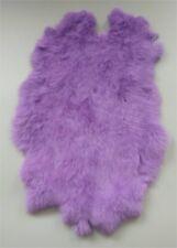 High Quality Purple Dyed Rabbit Skin Pelt Real Fur Hides Craft Tanned Pelt cloth