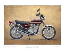"Kawasaki 900 Z1B (1975) red - Limited Edition Art Print 20""x16"" by Steve Dunn"