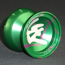 YOYO GK V2 PRO Metal 57mm Green Splash Aluminium includes 3 strings