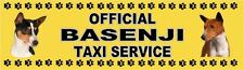 BASENJI OFFICIAL TAXI SERVICE  Dog Car Sticker  By Starprint