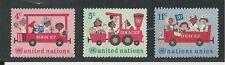 UNITED NATIONS, NEW YORK #  161-163 1966 20TH ANNIVERSARY, UNICEF