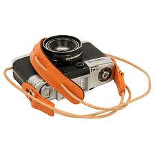 Orange leather cord neck strap f. RF film Digital camera NEX E-P X10 Nikon Leica