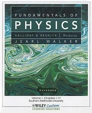 Fundamentals of Physics 9th Edition Volume 1 (Chapter 1-20) for So Methodist Uni