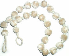 "POM POM PEARL"" EX ""Laura Ashley"" CURTAIN TIE BACKS CHAMPAGNE STONE, X2, FREE P&P"