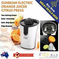 Sunbeam Electric Orange Juicer Automatic Citrus Hand Press Juicing Squeezer