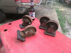 Vtg Snap_on K300 Tool Box Iron Wheels(ONLY)Original,40's~GD+😎😎so10.25.20