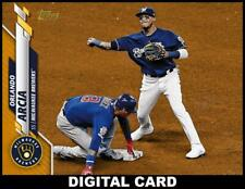 Topps BUNT Orlando Arcia GOLD PHYSICAL SERIES BASE 2020 [DIGITAL CARD]