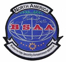 """Resident Evil North America BSAA Logo 3 3/4"""" Tall Embroidered Patch"""
