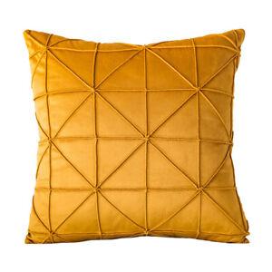 Modern Velvet Geometric Cushion Cover Sofa Simple Throw Pillow Case Home Décor