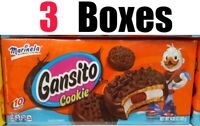 Marinela Gansito Cookie 10 Pack Filled Cookies ( 3 Boxes Total ) 14.82 oz Each