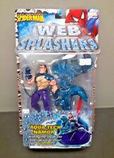 TOY BIZ SPIDER-MAN WEB SPLASHERS AQUA TECH NAMOR ACTION FIGURE MARVEL NIB