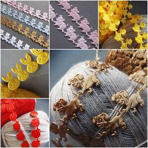 Animals satin bear puppy lace trim ribbon CRAFTS card gift shower Kids- per Yard