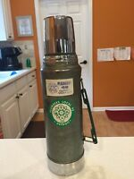 Vintage Stanley Metal Thermos A-944DH Quart Green Easy Flow Cap & Cup Handle USA