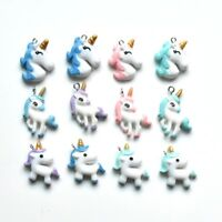 12PC Mixed Style Cartoon Unicorn Resin Charm Pendant For DIY Earrings/Necklace