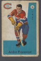 1959-60 Parkhurst Montreal Canadiens Hockey Card #35 Andre Pronovost