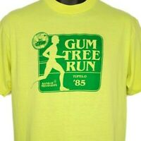 Gum Tree Run 10K T Shirt Vintage 80s 1985 Tupelo Mississippi Made In USA Size XL