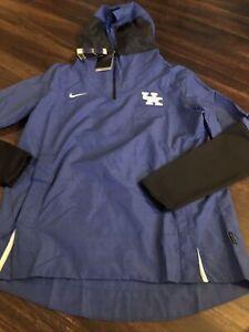 New Nike Men's UK Kentucky Wildcats 1/4 Light Jacket Size Large Blue Black