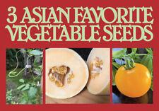 3 Varieties of Heritage Exotic Vegetable Seeds.20 Seeds Per Variety