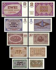 2x 5,10,50 Pfg - 1,2 Mark - 5 Bundeskassenscheine 1967 - P25,26,27,28,29