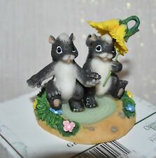 New Fitz & Floyd Charming Tails Getting Our Feet Wet Frog Figurine