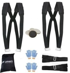 Moving Straps Set for Lifting & Carrying Heavy Objects With Gloves