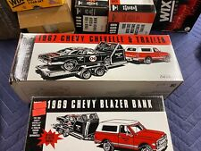 Wix ertl Die Cast 1967 Chevy Chevelle Race Car With Trailer In Box.
