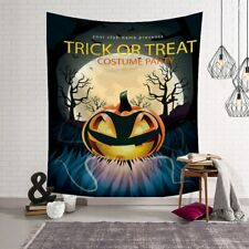 Pumpkin Wall Tapestries Happy Halloween Moon Tapestry Wall Hanging Home Decor