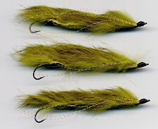 Trout Flies: Snake Flies. Olive x3 all size 8 hook All tied in the UK (code 157)