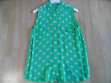 EQUIPMENT FEMME chice leichte ärmellose Bluse grün gemustert Gr. S w.NEU BSU1215