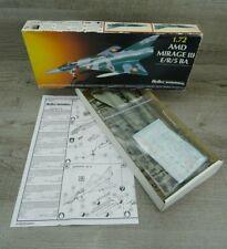 Heller Humbrol AMD Mirage III E/R/5BA Model Kit Aircraft Vintage 1986 1:72 Scale