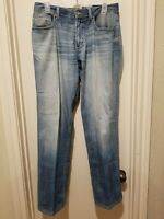 Buckle BKE Tyler Straight Leg Men's Jeans 31L Thick Stitched Stretch Denim