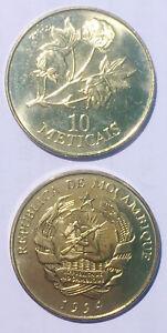 Mozambique 10 Meticais 1994 copper clad steel 23mm coin  UNC