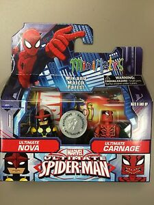Marvel Minimates Ultimate Spider-Man NOVA & CARNAGE TRU Animated Wave Cartoon