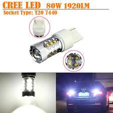 2x 80W White1920LM CREE LED T20 7440 Car Backup Reverse Turn Signal Light Canbus