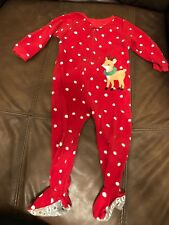 Warm Pajamas Reindeer Size 24 Months Holiday