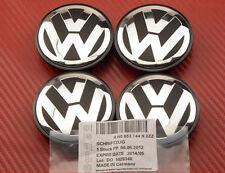 4x VOLKSWAGEN ALLOY WHEEL BADGES CENTER HUB CAPS 77mm VW Touareg T4 T5 Crafter