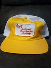 Rare Vintage Yellow IMC Animal Products Group Yellow Snapback Mesh Trucker Hat