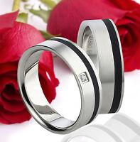 2 Ringe Eheringe Trauringe Verlobungsringe Partnerringe Gravur GRATIS TE1550